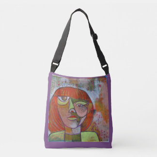 Cross body bag funky art design