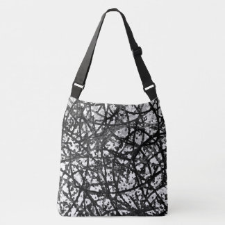 Cross Body Bag Grunge Art Abstract