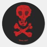 Cross Bones Classic Round Sticker