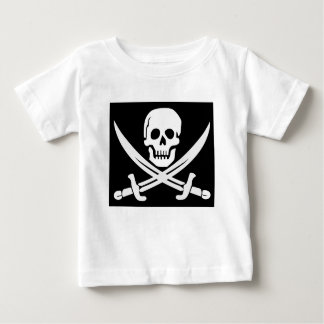 Cross Bones Flag Pirate Skull Baby T-Shirt
