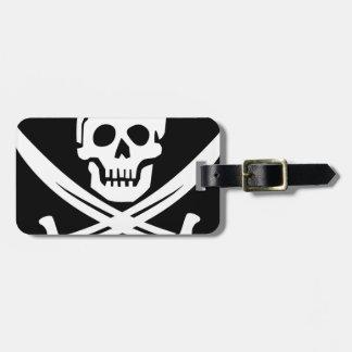 Cross Bones Flag Pirate Skull Bag Tag