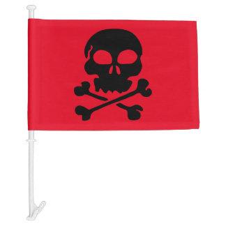 Cross Bones Skull Car Flag