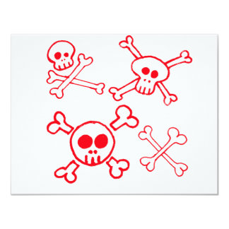 Cross Bones & Skulls Card