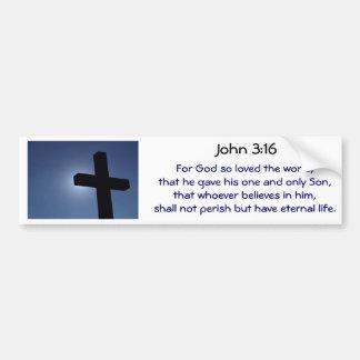 Cross Bumper Sticker