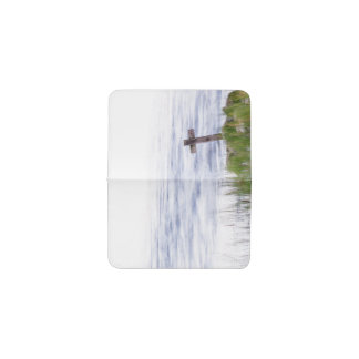Cross by river business card holder