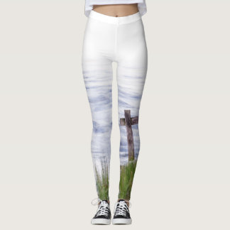 Cross by river leggings
