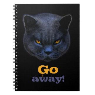 Cross Cat says Go Away Note Books