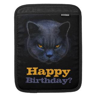 Cross Cat says Happy Birthday? iPad Sleeves
