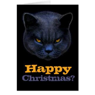 Cross Cat says Happy Christmas? Card