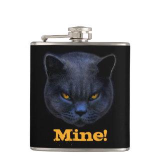Cross Cat says Mine! Flask