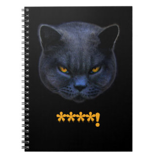 Cross Cat says Spiral Note Books