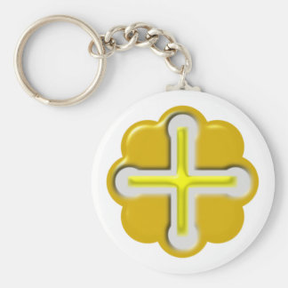 Cross Celtic CROSSes celtic Basic Round Button Keychain