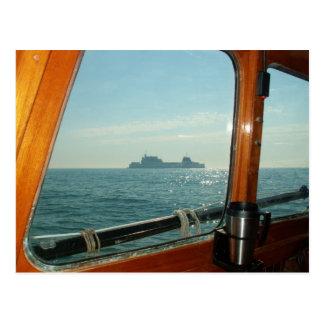 Cross Channel Ferry From The Wheelhouse Postcard