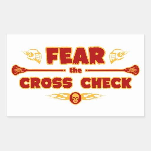 Cross Check Rectangle Sticker