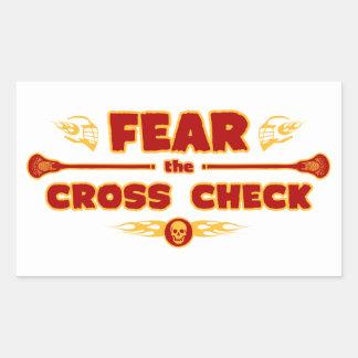 Cross Check Rectangular Sticker