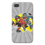 cross checking ice hockey players iPhone 4 cases