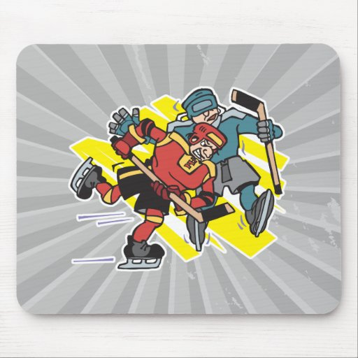 cross checking ice hockey players mousepad