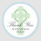 CROSS Christening, Shower or First Communion Classic Round Sticker