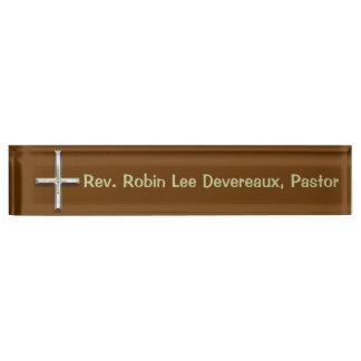 Cross Christian Desk Nameplate