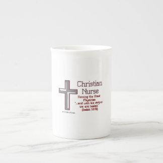 Cross Christian Nurse Porcelain Mug