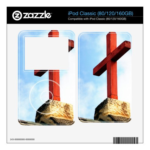 Cross Church Roof Decals For iPod Classic