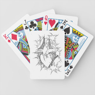 Cross connect 2 bicycle playing cards