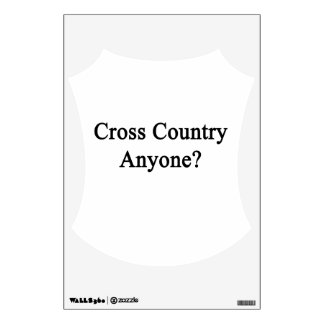 Cross Country Anyone Room Stickers