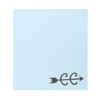 Cross Country Arrow Symbol Note Pad