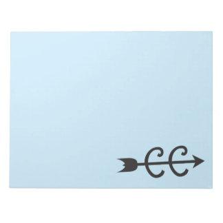 Cross Country Arrow Symbol Notepad