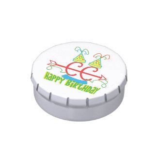 Cross Country Birthday Candy Tins
