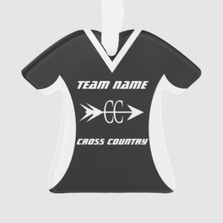 Cross Country Black Sports Jersey Photo Ornament