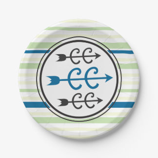 Cross Country BLUE Paper Plate