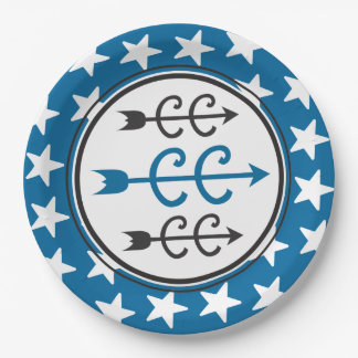 Cross Country BLUE Party Supplies Paper Plate