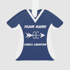 Cross Country Blue Sports Jersey Ornament at Zazzle