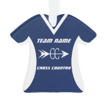 Cross Country Blue Sports Jersey Photo Ornament