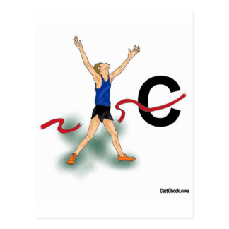 Cross Country Boy Postcard