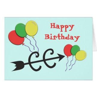 Cross Country CC Runner Happy Birthday Greeting Card