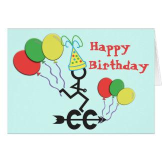 Cross Country CC Running Birthday Greeting Card