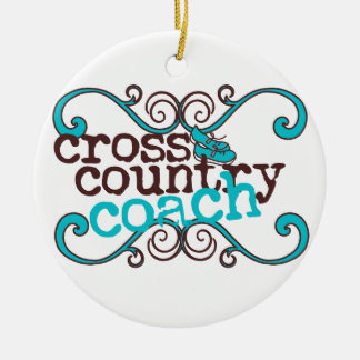 Cross Country Coach Ceramic Ornament