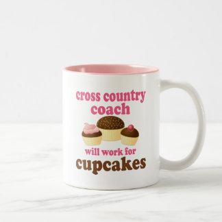 Cross Country Coach (Funny) Gift Two-Tone Coffee Mug