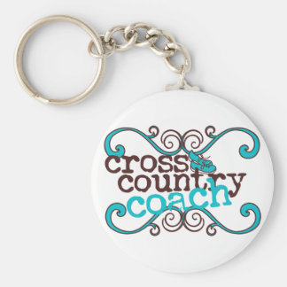 Cross Country Coach Keychain