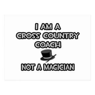 Cross Country Coach ... Not A Magician Postcard