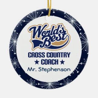 Cross Country Coach Personalized Ornament
