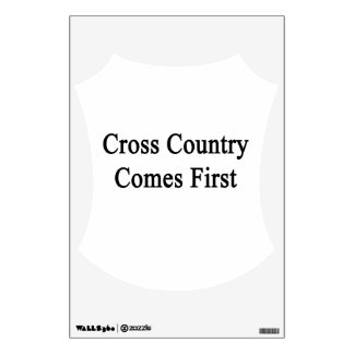 Cross Country Comes First Room Graphics