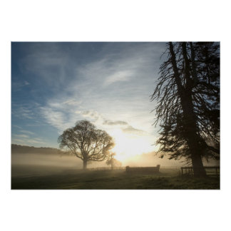 Cross-country course at dawn print