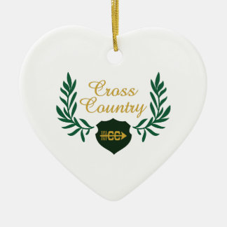 CROSS COUNTRY CREST CERAMIC ORNAMENT
