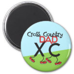 Cross Country Dad - Cross Country Runner Dad 2 Inch Round Magnet