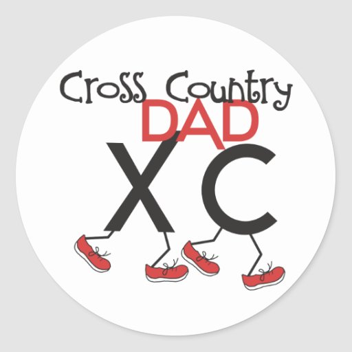 Cross Country Dad - Cross Country Runner Dad Classic Round Sticker