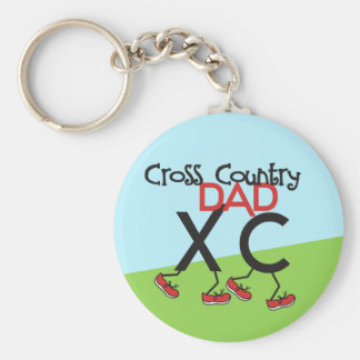 Cross Country Dad - Cross Country Runner Dad Keychain