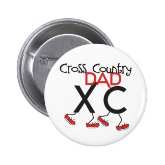 Cross Country Dad - Cross Country Runner Dad Pinback Button
